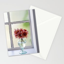 Dahlias in the soft September light Stationery Cards