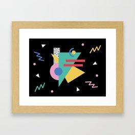 Memphis pattern 47 - 80s / 90s Retro Framed Art Print