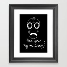 Doctor Who - Are you my mummy ? Framed Art Print