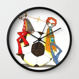 When Worlds Collide Wall Clock