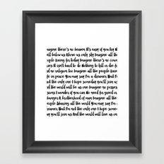 Imagine Song Framed Art Print