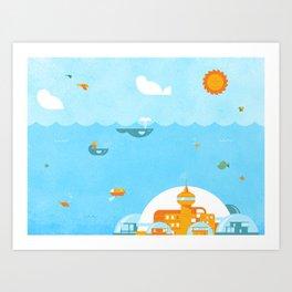 An Ocean Day Art Print