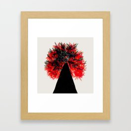 Burning Tree Framed Art Print