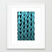 gradient Framed Art Prints featuring Gradient by Deusexmuraena