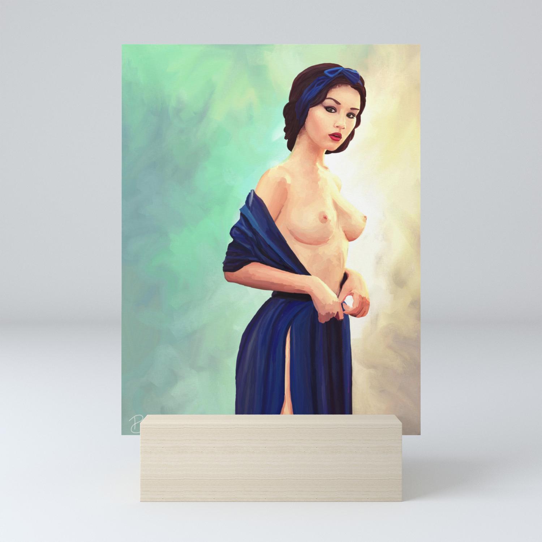 Sexy Snow White Mini Art Print By Pietrobranca Society6