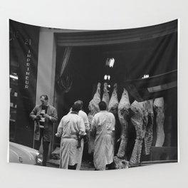 Verhandeling van vers vlees in Les Halles, Bestanddeelnr 254 0403 Wall Tapestry