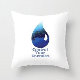 Control Your Enemies Throw Pillow