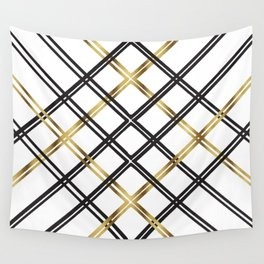 Crosshatch in Gold Wall Tapestry