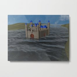 Water Castle Metal Print