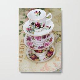 Teacups Metal Print