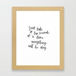 Ten Seconds At A Time Framed Art Print