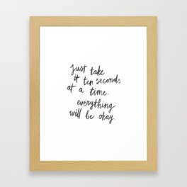 Ten Seconds At A Time Framed Art Print