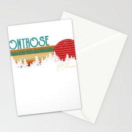 Montrose Colorado Retro Vintage Custom Funny Stationery Cards