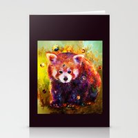 red panda Stationery Cards featuring red panda by ururuty