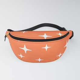 Mid Century Modern Star Pattern 443 Orange Fanny Pack