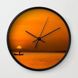 Jinja Sunrise Wall Clock