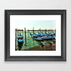 Gondolas Venice Framed Art Print