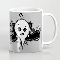 ghost Mugs featuring Ghost by elyinspira