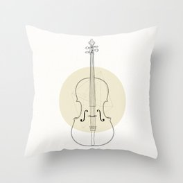 Cello II Throw Pillow