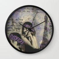 kiki Wall Clocks featuring KIKI by Luca Piccini