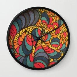 Swirl Doodle Wall Clock