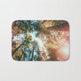 California Redwoods Sun-rays and Sky Bath Mat
