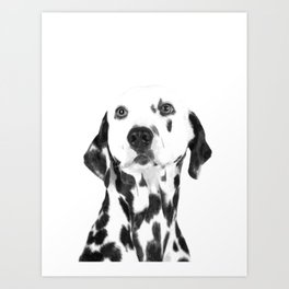 Black and White Dalmatian Art Print