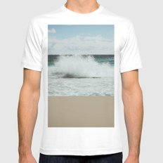 Wave Mens Fitted Tee White MEDIUM