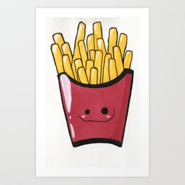 French Fries Cutie Art Print