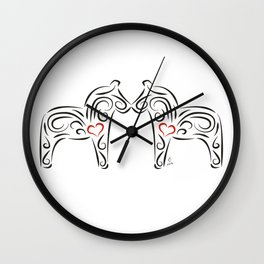 Dalecarlian horses - The heart of Esperanza Wall Clock