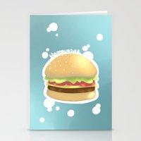 hamburger Stationery Cards featuring Hamburger  by Elisehill3
