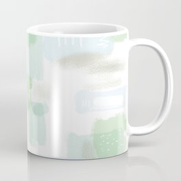 Abstract Conundrum Blue and Green Coffee Mug