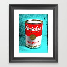 CONDENSED HAPPY Framed Art Print