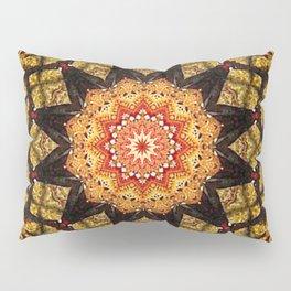 mosaico mandala en flor Pillow Sham
