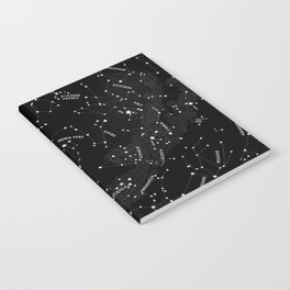 Constellation Map - Black Notebook