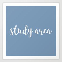 study area - blue Art Print