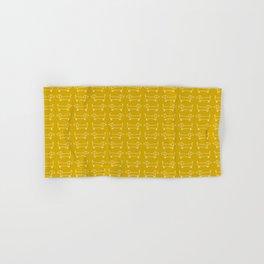 Dachshunds in honey yellow Hand & Bath Towel
