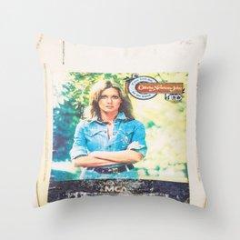 Olivia Newton-John Throw Pillow