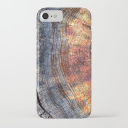 Macro Tree Stump Ring iPhone Case