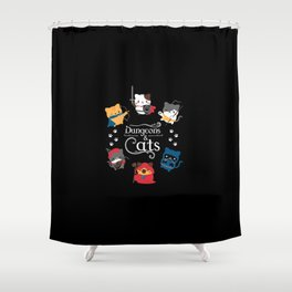 Dungeons And Cats Shower Curtain