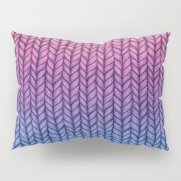 Chunky Knit Pattern in Pink, Blue & Purple Pillow Sham