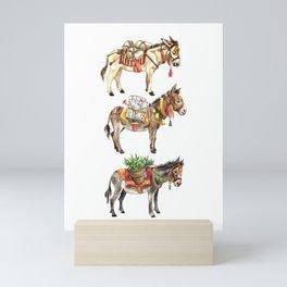 Nepal Donkeys Mini Art Print