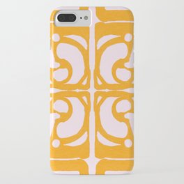 Abstract in Yellow and Cream iPhone Case