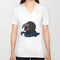 ravenclaw V-neck T-shirts featuring Ravenclaw (alt) by Clair C