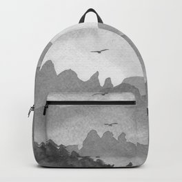 misty mountains - grey palette Backpack