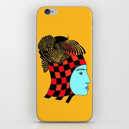 The Checkered Lady iPhone Skin