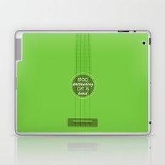 Stop pretending art is hard (green) Laptop & iPad Skin