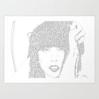 Lady G Art Print