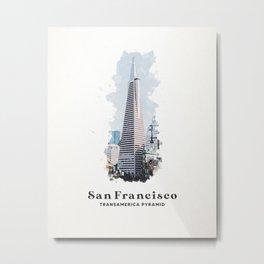 San Francisco Transamerica Pyramid Metal Print