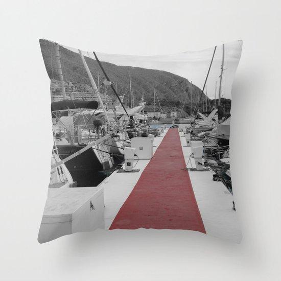 Spanish Harbour Throw Pillow